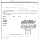 NOMINEE FORM